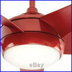 Red 52 inch Ceiling Fan with Light and Remote Control Kit Modern Indoor 5 Blade