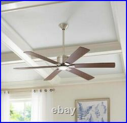 Renwick 60 in. Integrated LED Indoor Brushed Nickel Ceiling Fan with Light Kit