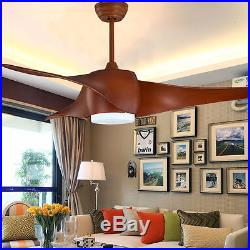 Retro Country Style Ceiling Fan Lights 52'' Flush Mount Kit with Remote 90V-265V