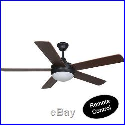 Riverchase Oil Rubbed Bronze 52 Ceiling Fan with Light Kit & Remote #20-7249