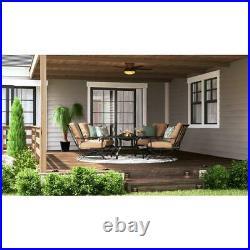 Roanoke 48'' LED Indoor/Outdoor Natural Iron Ceiling Fan /Light Kit Hampton Bay
