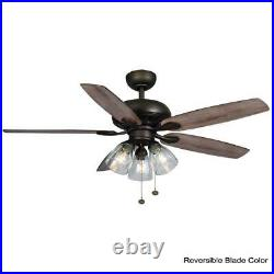 Rockport 52 in. Bronze LED Ceiling Fan with Light kit by Hampton Bay