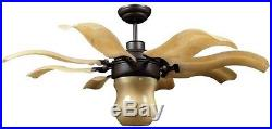 Roman Bronze Retractable Ceiling Fan Light kit Lampshade Air Cooling Decor Blade