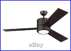 Roman Bronze Vision Max 3-Blade 56 Ceiling Fan With Matching Blades & Light Kit
