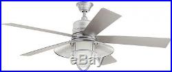 Rustic Grayton 54 Indoor Outdoor Galvanized Ceiling Fan Home Decor with Light Kit