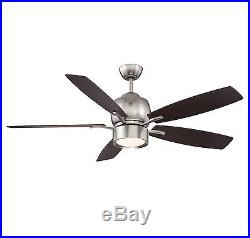 Savoy House 52-120-5CN-SN Girard, 52 Ceiling Fan with LED Light Kit and Remote