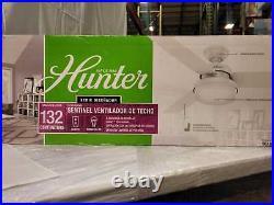 Sentinel 52'' LED Indoor Fresh White Ceiling Fan /Light Kit & Remote by Hunter