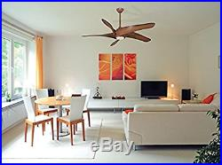 Sleek 62 Large Contemporary Ceiling Fan + Remote + Modern Distressed Light Kit