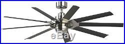 Slinger V2 72-in Downrod Mount Indoor/Outdoor Ceiling Fan LED Light Kit 9-Blade