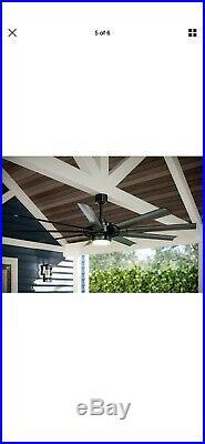 Slinger v2 72-in Matte Black LED Indoor/Outdoor Ceiling Fan with Light Kit