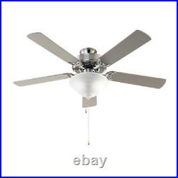 Solana 52 in. Indoor Brushed Nickel Ceiling Fan with Light Kit