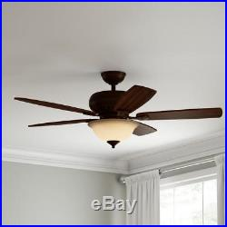 Southwind 52 in. LED Indoor Venetian Bronze Ceiling Fan with Light Kit & Remote
