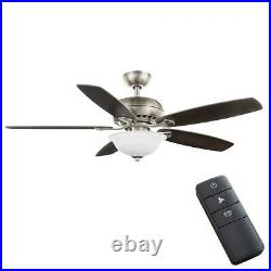 Southwind II 52 in. LED Indoor Brushed Nickel Ceiling Fan with Light Kit/Remote