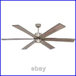 Statewood 70 in. LED Brushed Nickel Ceiling Fan with Light Kit and Remote Contro