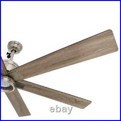 Statewood 70 in. Led brushed nickel ceiling fan with light kit and remote cont