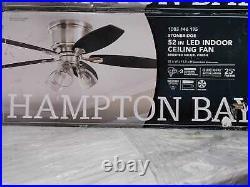 Stoneridge 52'' LED Indoor Brushed Nickel Hugger Ceiling Fan with Light Kit by HDC