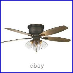 Stoneridge 52 in. Bronze Hugger LED Ceiling Fan with Light Kit by Hampton Bay