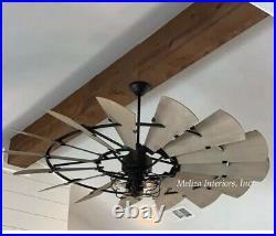 THE WINDMILL FAN IN NOIR & CAGE LIGHT KIT 72 Windmill Indoor Fan