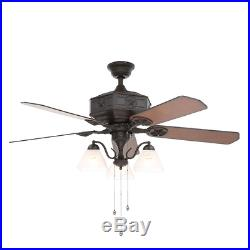 Texas Lonestar 52 Cowboy Ceiling Fan Cone Shade Lights Kit Natural Iron Fixture