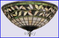 Tiffany Style Stained Glass Ceiling Fan Light Kit