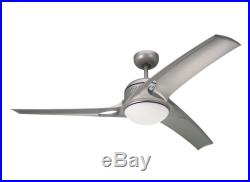 Titanium Mach One 3-Blade 52 Indoor Ceiling Fan with Light Kit & Remote Control