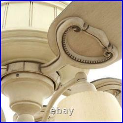 Torrington 52 Indoor Cottage Wood Ceiling Fan with Light Kit + Remote Control