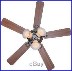 Transitional 44 Reversable Blades Quiet Bronze Ceiling Fan with 3-Light Kit