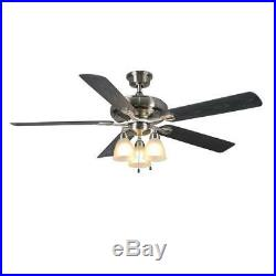 Trentino II 60 LED Indoor/Outdoor Brushed Nickel Ceiling Fan withLight Kit by HDC