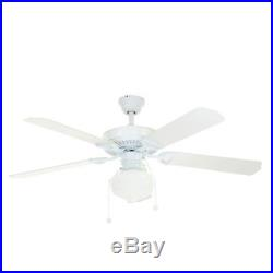 Trimount 52 in. Indoor White Ceiling Fan with Light Kit