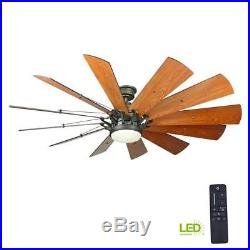 Trudeau 60 in. LED Indoor Espresso Bronze Ceiling Fan with Light Kit and Remote