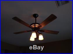 Unique 52 Ceiling Fan Dual Accent Mission Cone Light Kit Fancy Art Deco Fixture