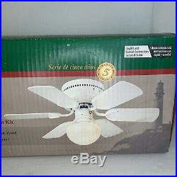 VTG The Minuet By The Hampton Bay 30 Ceiling Fan With Light Kit 975-714 White New