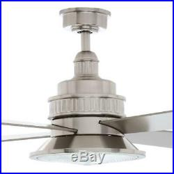 Valle Paraiso 52 in. Indoor Brushed Nickel Ceiling Fan with Light Kit