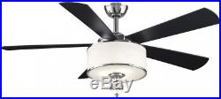 Victoria Harbor 52 In Polished chrome Indoor Downrod Mount Ceiling Fan Light Kit