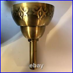 Vintage Decorative Gold Tone Brass Ceiling Fan Base