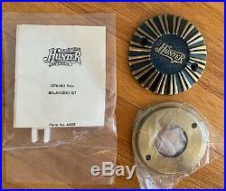 Vintage Hunter Antique Brass 52 Ceiling Fan Light Kit & Cap Brown Blades 23021