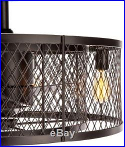 Vintere 20 In Aged Bronze Indoor Downrod Mount Ceiling Fan Light Kit Remote New