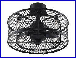 Vintere Ceiling Fan with Vintage Light Kit 3Speed AC Motor Cage Style Indoor Fan