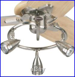 Westinghouse Elite 48 Ceiling Fan with Brushed Nickel Finish 3-Light Kit NEW