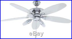 Westinghouse Panorama 52 in. Chrome Ceiling Fan 4-Light Kit With Frosted Glass