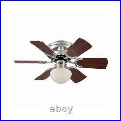 Westinghouse Petite Ceiling Fan + Light Kit, Brushed Nickel, 30-In
