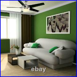 Windward 44 in. LED Brushed Nickel Ceiling Fan with Light Kit by Home Decorators